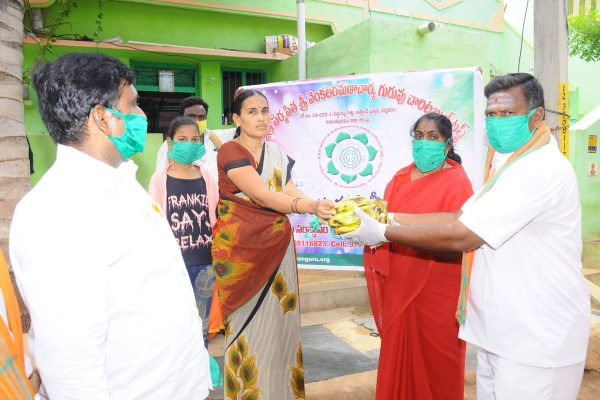 16 mathaji fruits and mask distribution dmm